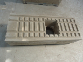 Fireclay precast refractory block for aluminium industry